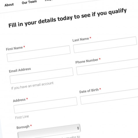 Example Web Site Form